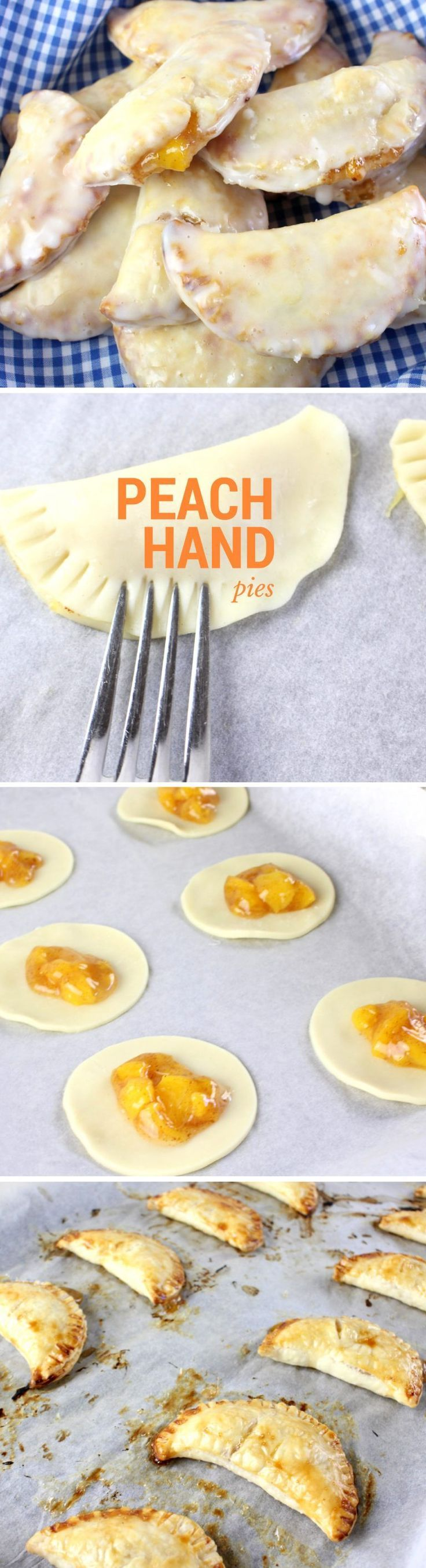DIY Peach Fruit Hand Pie Recipe! Perfect summer fruits in a deliciously sweet iced hand pie. Easy to make and oh so yummy! Perfect for your next BBQ or family party.