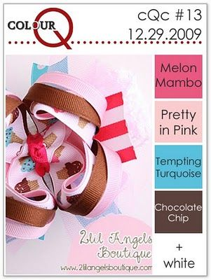 . Stampin' Up! melon mambo, pretty in pink, tempting turquoise, chocolate chip