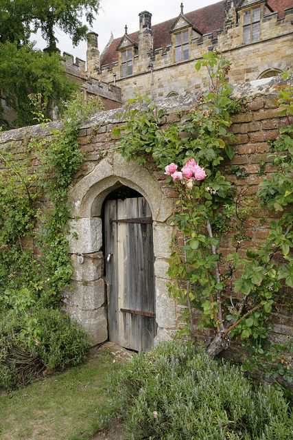 """In Through The Back Door"" Penshurst Place gardens - Kent. This is what I imagine the Secret Garden to look like on the outside."