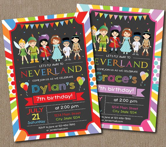 Neverland Invitation Neverland Invite by PixeleenDesigns on Etsy