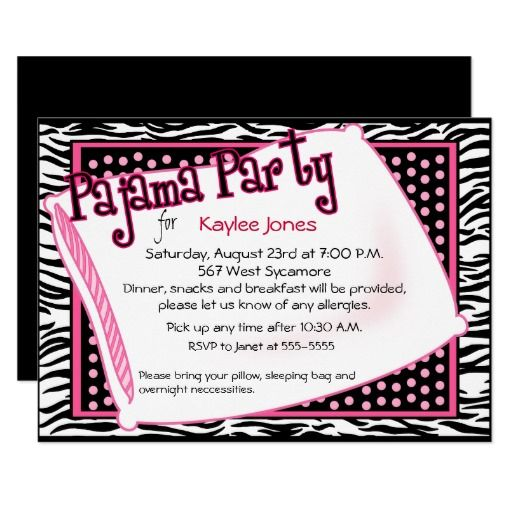 169 best images about Girls Pajama Party Invitations – Party Invitation Sites