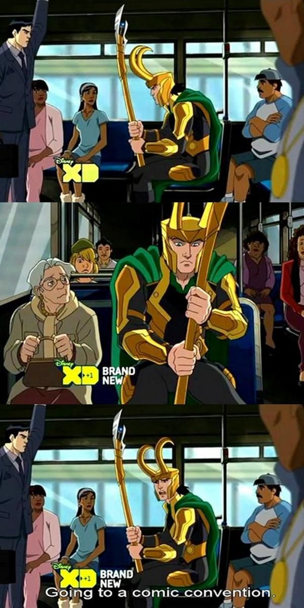 This is hilarious << NO I DON'T THINK YOU UNDERSTAND HOW PERFECT THIS IS. IN ORDER FOR HIM TO USE THAT EXCUSE, THAT MEANS EVEN IN THE MARVEL WORLD THERE ARE PEOPLE WHO ADORE LOKI XD XD
