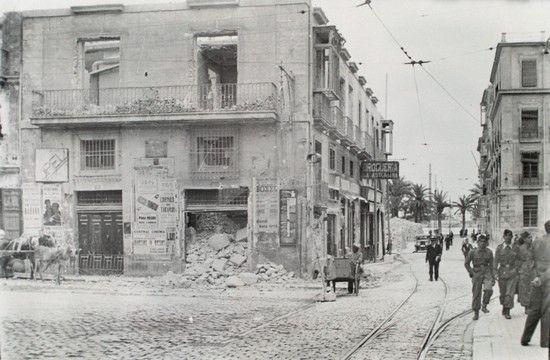 Rambla de Méndez Núñez. Apertura del tramo Sur por la calle Mayor Año: 1939