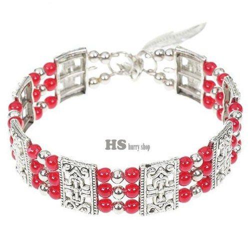 Fancy Red Agate German Silver Cuff Bracelets | 5STAR - Jewelry on ArtFire