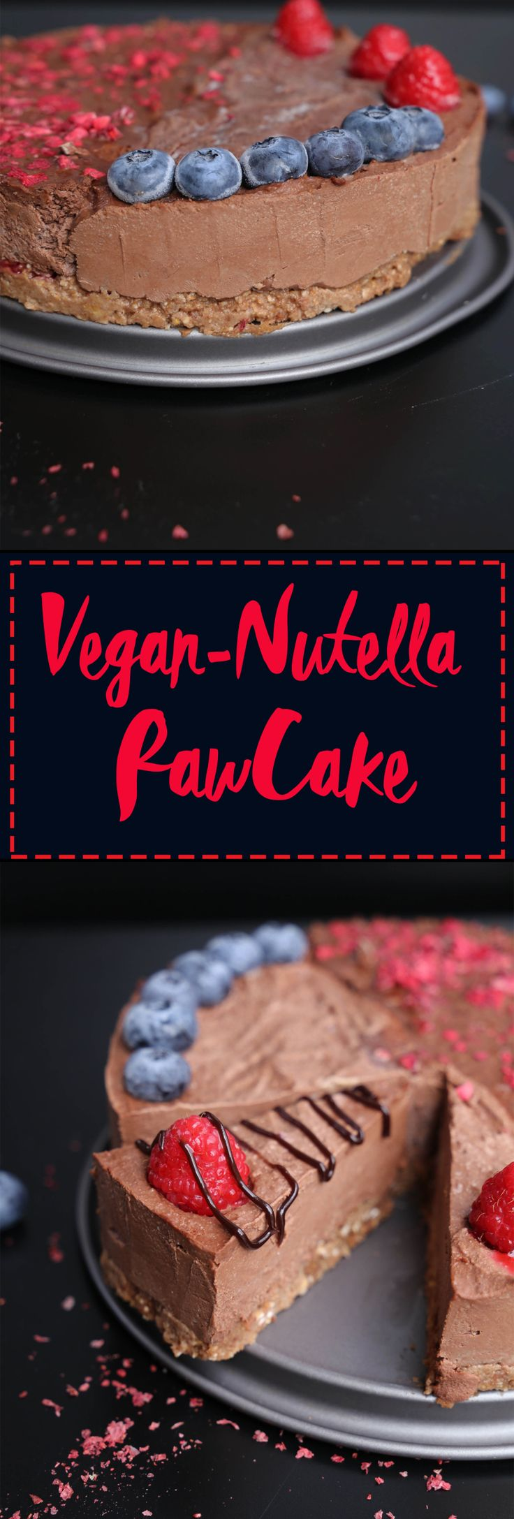 The best Nutella Raw Cake - Vegan, no refined sugar