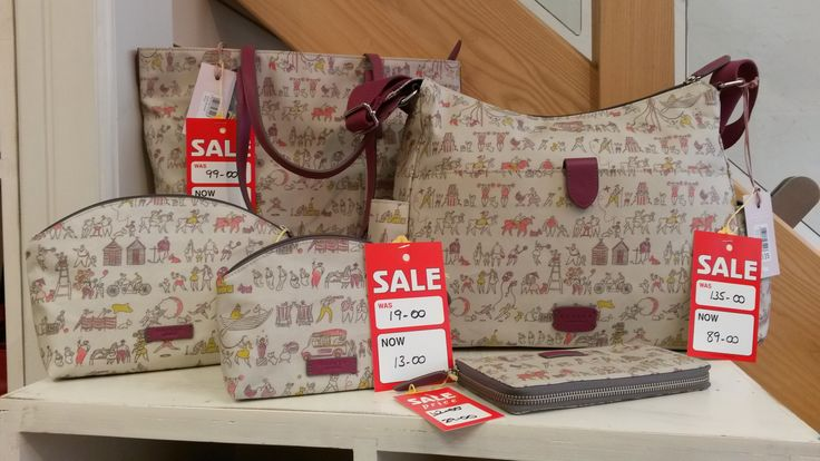 Cute print bags from Radley - all all sizes and shapes to suit every Radley collector! Reduced in store in our Summer 2014 sale - pop in to see the full range...