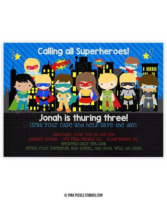 Invitación de superheroe Super héroe invitación invitación