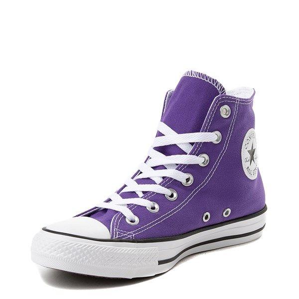 purple converse high tops kids