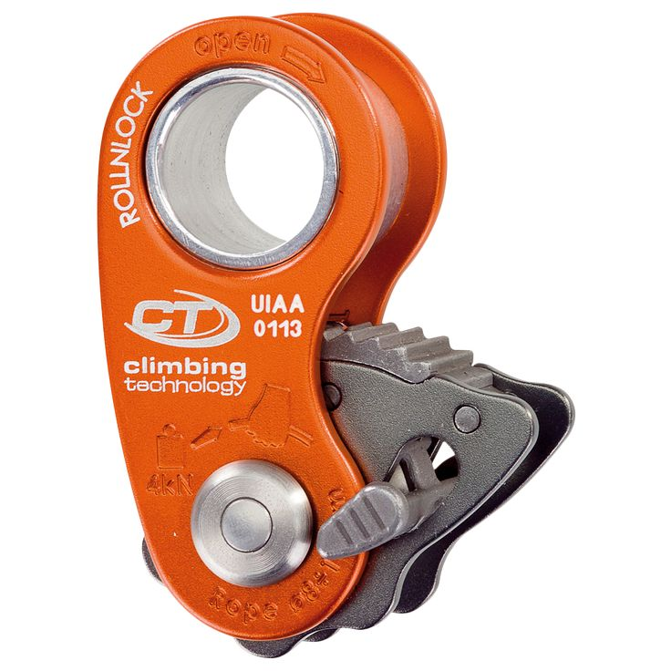 RollNLock is a ultra-light pulley / rope clamp (only 80 g!) designed for work, rope climbing maneuvers, rescue and self-rescue situations.