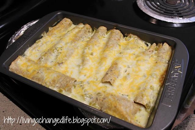 Weight Watchers White Chicken Enchiladas