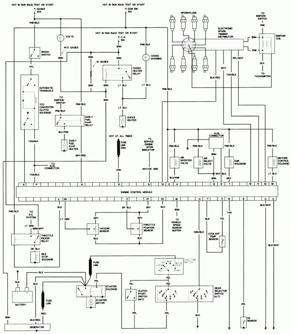 12  87 Camaro Engine Wiring Diagram