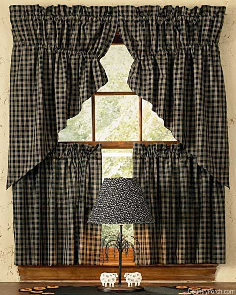"""Park Design Sturbridge Lined Fishtail Swag Black: 87 Best Images About """"Primitive Curtains"""" On Pinterest"""