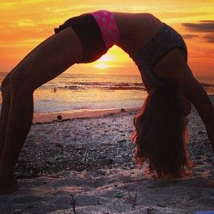 One of the original beach yoga photos in Santa Teresa, Costa Rica - early 2014.