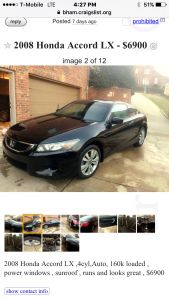 2008 Honda Accord LX For Sale In Birmingham | Cars.com