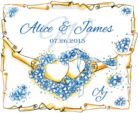 Custom Floral Monogram Wedding Monogram-Custom by PaperMark4You