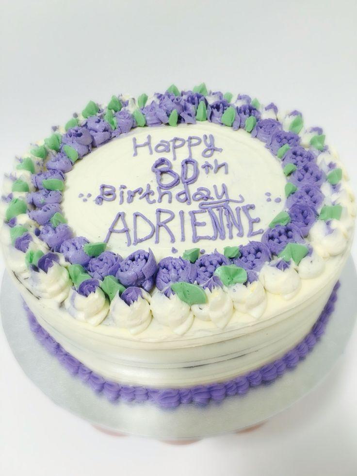 Russian rose tip design birthday cake