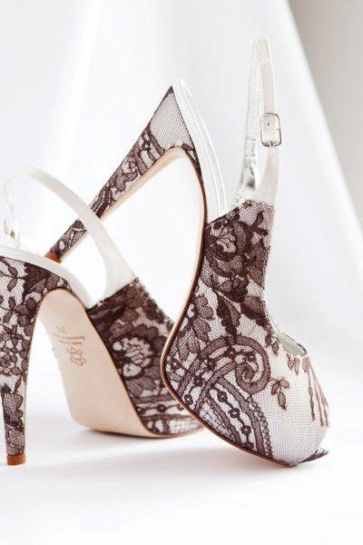 Zapatos de noviaMetalizados, encaje y pedrería