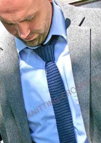 Вязаный галстук — необычный подарок своими руками мужчине