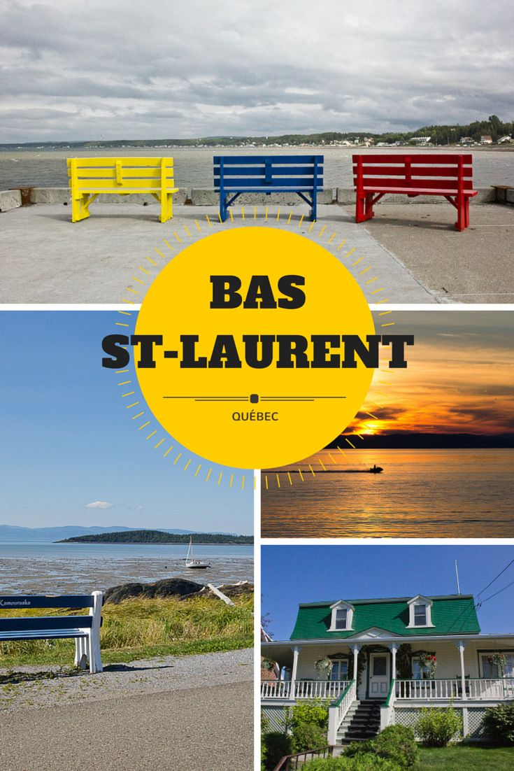 Bas St-Laurent, Québec. La route des Navigateurs longe le fleuve St-Laurent et offre des panoramas époustouflants!