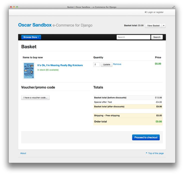 Oscar is an e-commerce framework for Django designed for building domain-driven sites. It is structured such that any part of the core functionality can be customised to suit the needs of your project. This allows a wide range of e-commerce requirements to be handled, from large-scale B2C sites to complex B2B sites rich in domain-specific business logic.Features:Any product type can be handled, including downloadable products, subscriptions, variant products (e.g., a T-shirt in different…