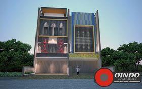 Desain Rumah Toko 3 lantai