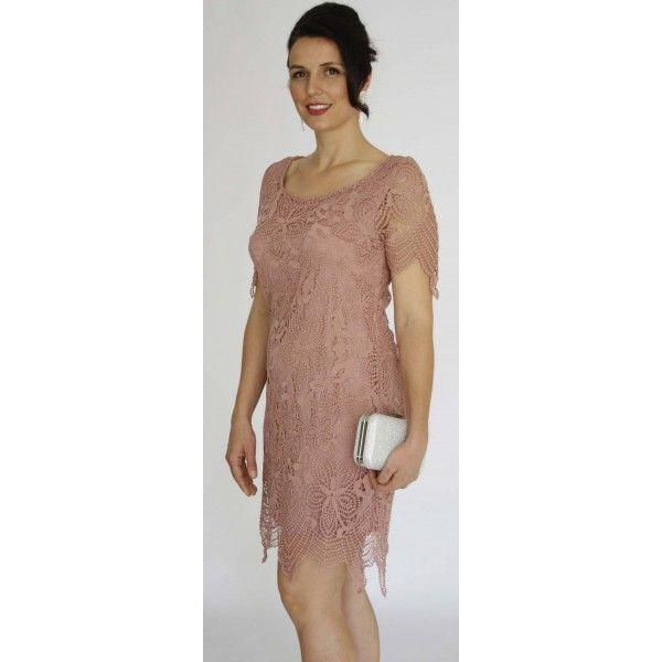 Vorine Venice Lace Evening Dress