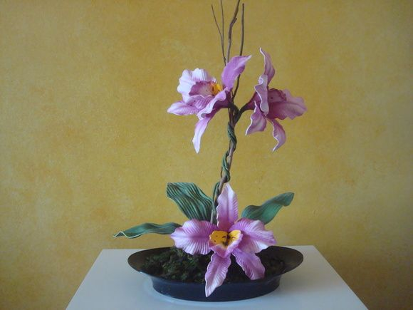 Arranjo de flor em E.V.A - Orquídea