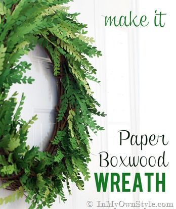 How I Made a Paper Boxwood Wreath - In My Own Style