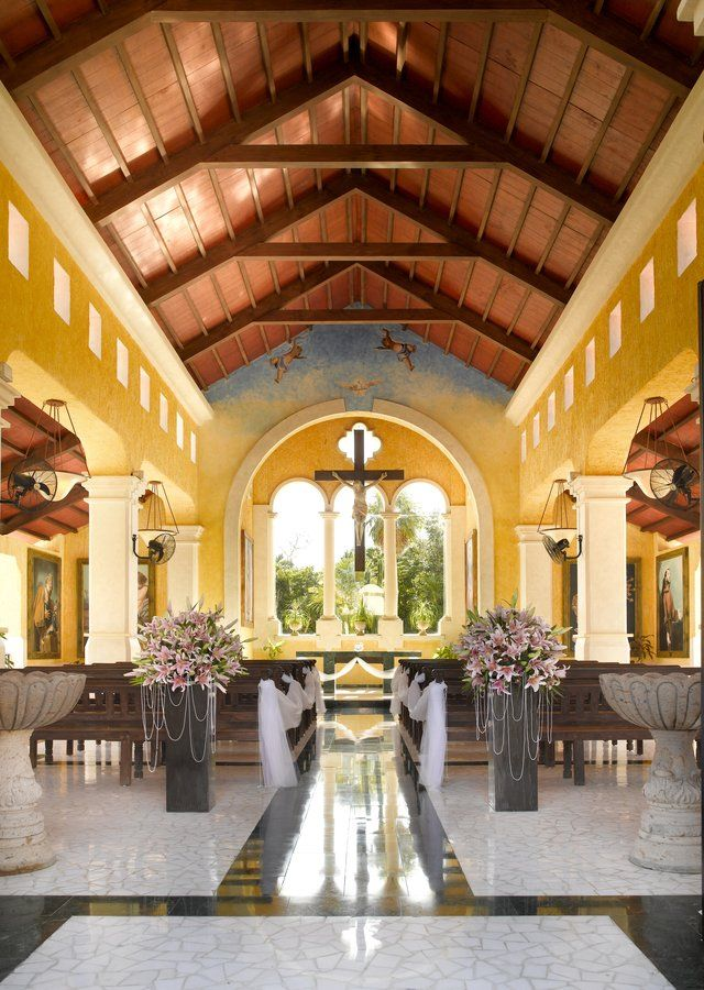 Stunning Chapel at the Grand Palladium Hotel. #NowDestinations #Destinationweddings #WeddingDecor