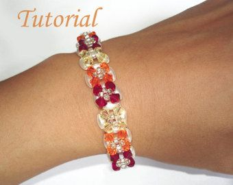 Beading Tutorial  Beaded Infinity Entwined Bracelet and Ring