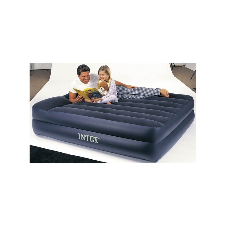 intex pillow rest queen airbed with builtin electric pump air bed mattress new