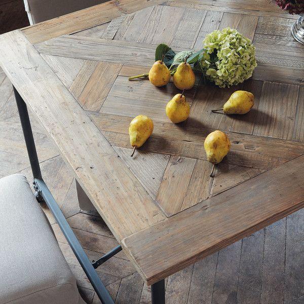 Table Be à Roulettes En Bois Et Métal L 160 Cm