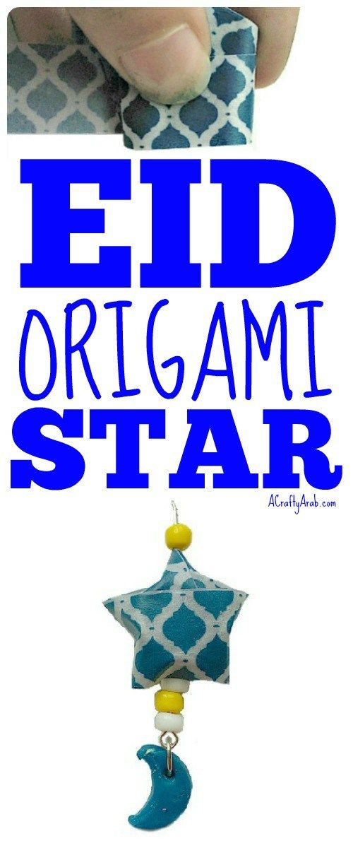 A Crafty Arab: Eid Origami Star Necklace {Tutorial}. Eid al Adha is September 12th, 2016 and we thought we'd get a head start on gifts to friends with this origami star necklace.  Our community usually has a little Eid gathering and the kids exchange gifts to celebrate. My daughters have recently discovered washi tape and created this star necklace to give as …