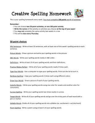 spelling idea