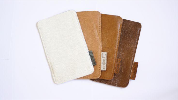 Leather iphone sleeve