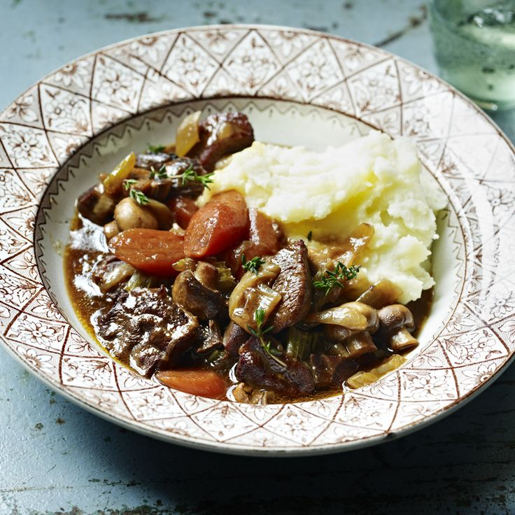 Just in time for the colder weather, Mary Berry's rich beef and mushroom stew.