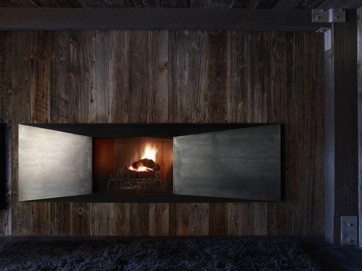 Contemporary Fireplace, Matal U0026 Wood, La Muna, Aspen, Colorado By Oppenheim  Architecture + Design