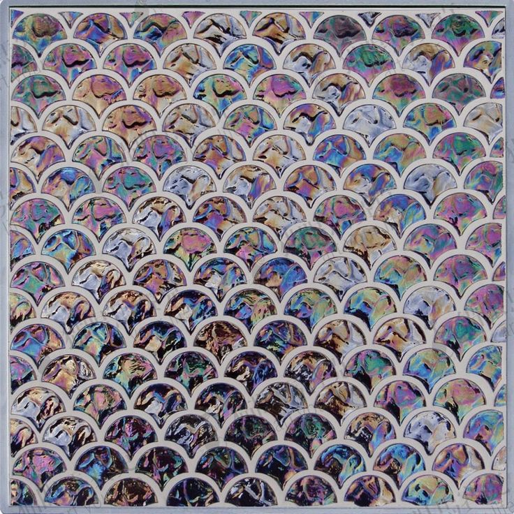Sy48 glass mosaic background wall tile fish scale rose black-inMosaics from Home Improvement on Aliexpress.com