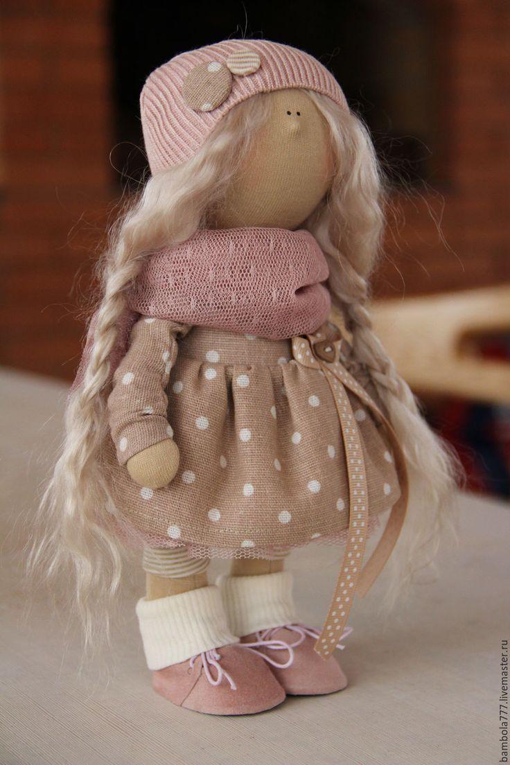 Купить Интерьерная кукла - кремовый, кукла ручной работы, кукла, кукла в подарок, кукла интерьерная