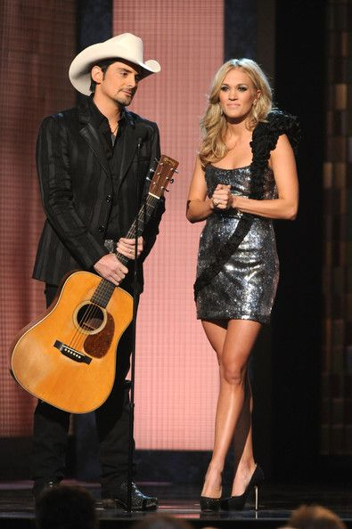 Country Music Stars Brad Paisley and Carrie Underwood
