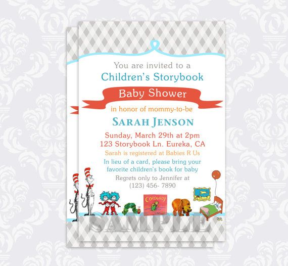 Storybook Baby Shower Invitation Book Baby By