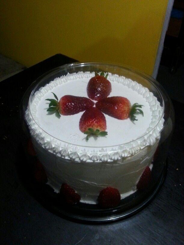 Cake fresas con crema!!