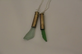 bullet casing with sea glass