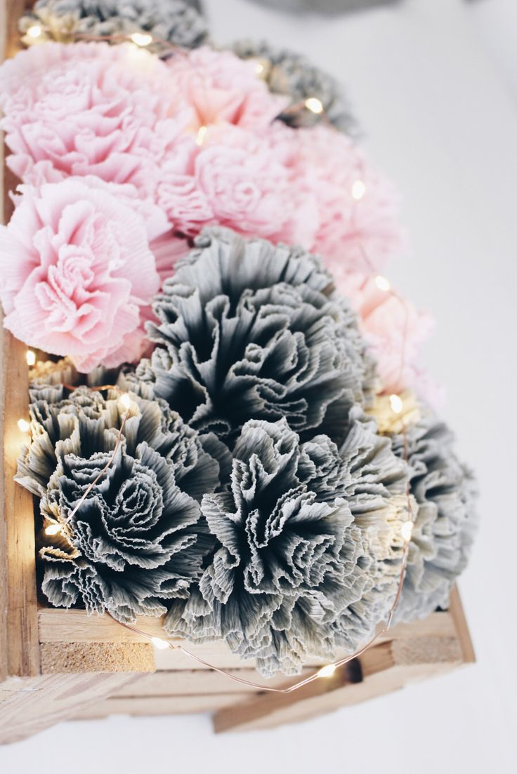die besten 17 ideen zu krepppapier auf pinterest krepp papier handwerk papierblumen und. Black Bedroom Furniture Sets. Home Design Ideas