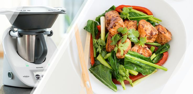 12WBT Thermomix Recipe - Ginger Salmon Stir-Fry