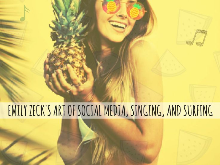 We caught up with singer and social media rising star Emily Zeck (also known as @thatpineapplegirl on Instagram) to talk about her music and her social media success! #socialmedia #instagram