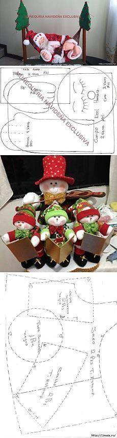 Moldes y manualidades de navidad en fieltro