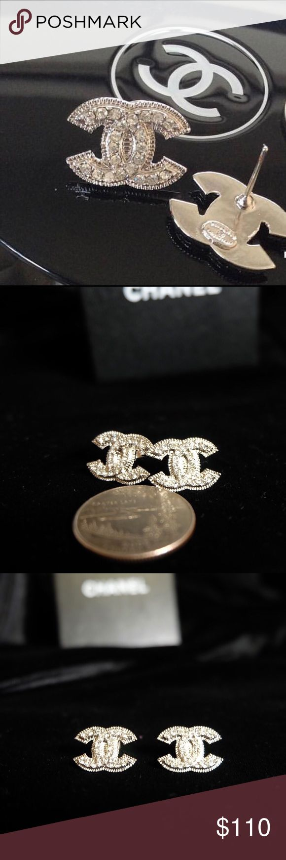 CC CZ Women stud Earrings Hot Fashion ‼️PLEASE READ ITEM DESCRIPTIONS & SEE PHOTOS BEFORE PURCHASING ‼️  💎In_s.p.i.r.ed 💎CZ (Cubic Zirconia)  💎Stamps on the back  💎High Quality 💎The pictured item is the exact item you will receive  💎No Trade No Low offers Pleaseee 💎Same Day Shipping if Purchase before 1PM 😊THANK YOU😊 CHANEL Jewelry Earrings