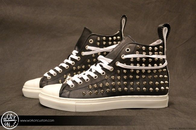 Work_On leather shoes - #leather #shoes #custom #studs #sneakers #workon #fashion #handmade #madeinitaly - www.workoncustom.com - mod. Triton