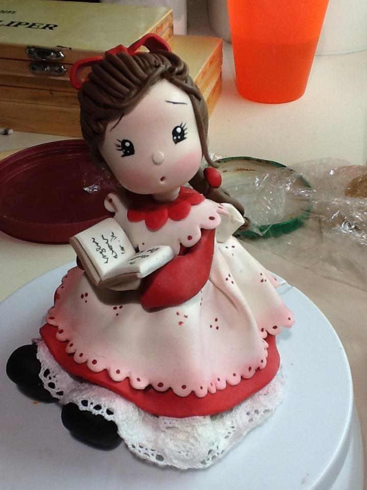 niña porcelana fria polymer clay pasta francesa masa flexible biscuit cake topper modelado modelling fimo